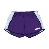 Ladies Purple/White Team Short-NAVS