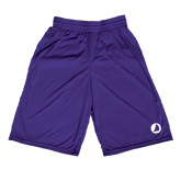Midcourt Performance Purple 9 Inch Game Short-Navigators Sail
