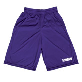 Midcourt Performance Purple 9 Inch Game Short-NAVS