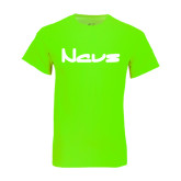 Neon Green T Shirt-NAVS New Age Font