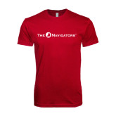 Next Level SoftStyle Cardinal T Shirt-The Navigators