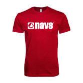 Next Level SoftStyle Cardinal T Shirt-NAVS