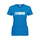 Ladies Sapphire T Shirt-NAVS