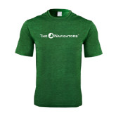 Performance Dark Green Heather Contender Tee-The Navigators