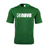 Performance Dark Green Heather Contender Tee-NAVS