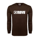 Brown Long Sleeve TShirt-NAVS
