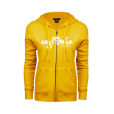 ENZA Ladies Gold Fleece Full Zip Hoodie-Eagle Lake Camps
