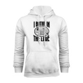 White Fleece Hoodie-I Bathe In The Lake