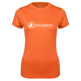 Ladies Syntrel Performance Orange Tee-Navigators