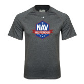Under Armour Carbon Heather Tech Tee-NAV Responder