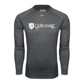 Under Armour Carbon Heather Long Sleeve Tech Tee-Glen Eyrie - Flat