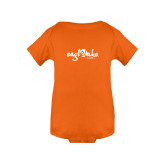 Orange Infant Onesie-Eagle Lake Camps