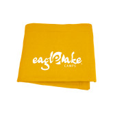 Gold Sweatshirt Blanket-Eagle Lake Camps