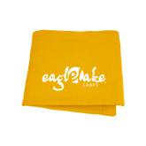 Gold Sweatshirt Blanket-Eagle Lake Camps