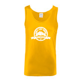 Gold Tank Top-Eagle Lake Badge Distressed