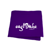 Purple Sweatshirt Blanket-Eagle Lake Camps