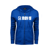 ENZA Ladies Royal Fleece Full Zip Hoodie-NAVS