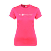 Ladies Performance Hot Pink Tee-The Navigators