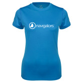 Ladies Syntrel Performance Light Blue Tee-Navigators