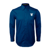 Navy Twill Button Down Long Sleeve-Glen Eyrie