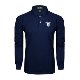 Navy Long Sleeve Polo-Glen Eyrie