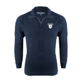 Navy Rib 1/4 Zip Pullover-Glen Eyrie