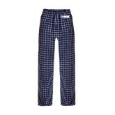Navy/White Flannel Pajama Pant-NAVS