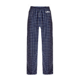 Navy/White Flannel Pajama Pant-Eagle Lake
