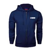 Navy Fleece Full Zip Hood-NAVS