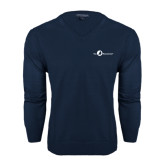 Classic Mens V Neck Navy Sweater-The Navigators