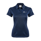 Ladies Nike Dri Fit Navy Pebble Texture Sport Shirt-The Navigators Tone