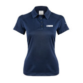 Ladies Nike Dri Fit Navy Pebble Texture Sport Shirt-NAVS