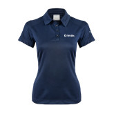 Ladies Nike Dri Fit Navy Pebble Texture Sport Shirt-NAV 20s