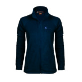 Ladies Fleece Full Zip Navy Jacket-The Navigators Tone