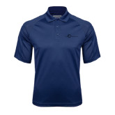Navy Textured Saddle Shoulder Polo-The Navigators Tone