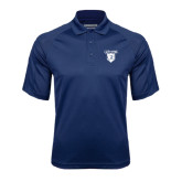 Navy Textured Saddle Shoulder Polo-Glen Eyrie