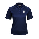 Ladies Navy Textured Saddle Shoulder Polo-Glen Eyrie