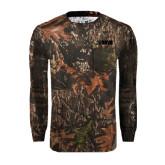 Realtree Camo Long Sleeve T Shirt w/Pocket-NAVS
