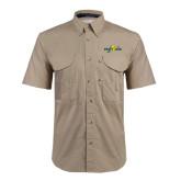 Khaki Short Sleeve Performance Fishing Shirt-Eagle Lake