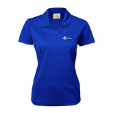 Ladies Nike Golf Dri Fit Royal Micro Pique Polo-The Navigators Tone