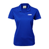 Ladies Nike Golf Dri Fit Royal Micro Pique Polo-NAVS Tone