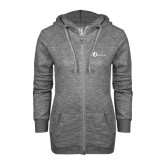 ENZA Ladies Grey/Black Marled Full Zip Hoodie-The Navigators