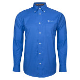 Mens Royal Oxford Long Sleeve Shirt-Navigators