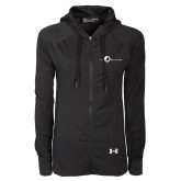 Ladies Under Armour Black Varsity Full Zip Hoodie-The Navigators