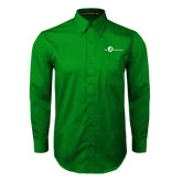 Kelly Green Twill Button Down Long Sleeve-The Navigators