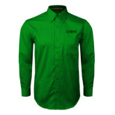 Kelly Green Twill Button Down Long Sleeve-NAVS Tone