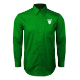 Kelly Green Twill Button Down Long Sleeve-Glen Eyrie