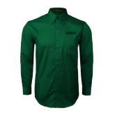 Dark Green Twill Button Down Long Sleeve-NAVS Tone