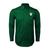 Dark Green Twill Button Down Long Sleeve-Glen Eyrie