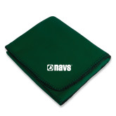 Dark Green Arctic Fleece Blanket-NAVS